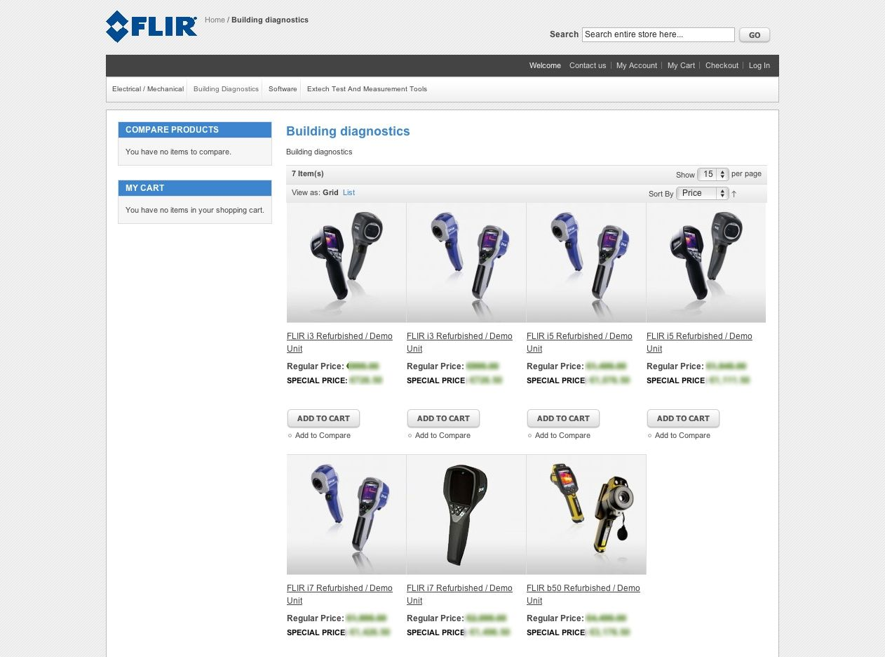 FLIR Systems: è online il nuovo webshop