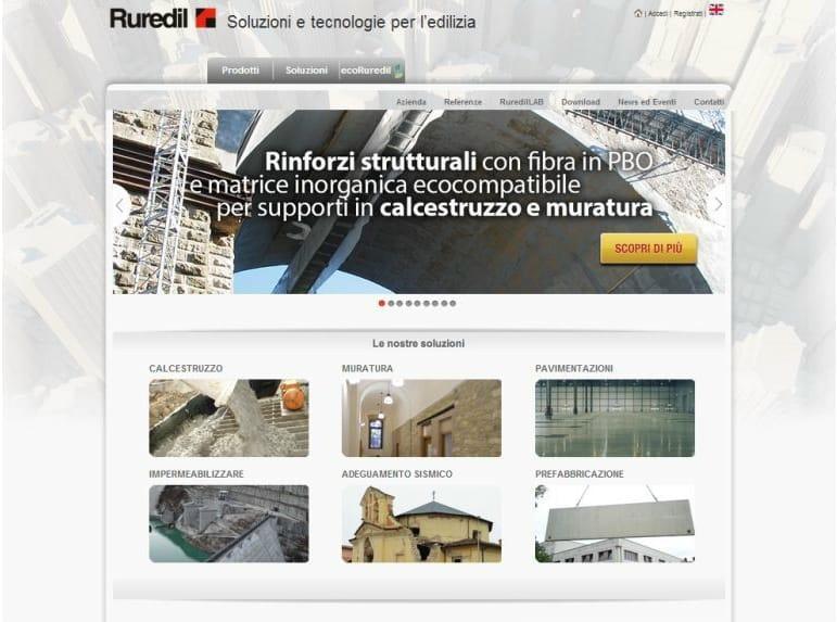 Nuovo sito Ruredil