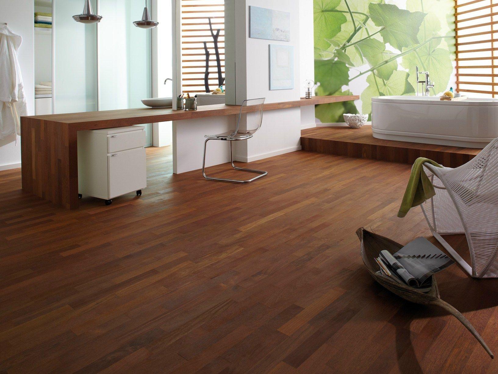 Parquet In Legno Duro bauwerk parquet: l'eleganza del legno anche in bagno