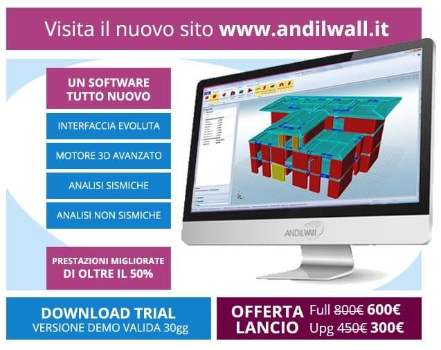 Andil e CR Soft presentano ANDILWall 3, il software di calcolo strutturale per edifici in muratura