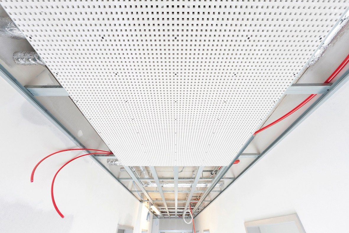 REHAU, Radiante fonoassorbente a soffitto