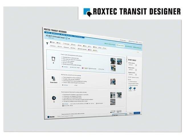 Roxtec lancia il nuovo software di progettazione Roxtec Transit Designer