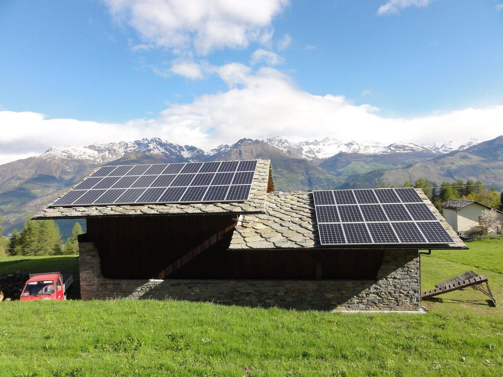 Un impianto fotovoltaico Conergy tra le montagne della Valle d'Aosta