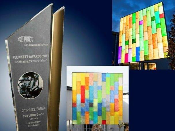 Trifluor al secondo posto dei DuPont Plunkett Awards con le membrane architettoniche ETFE colorate