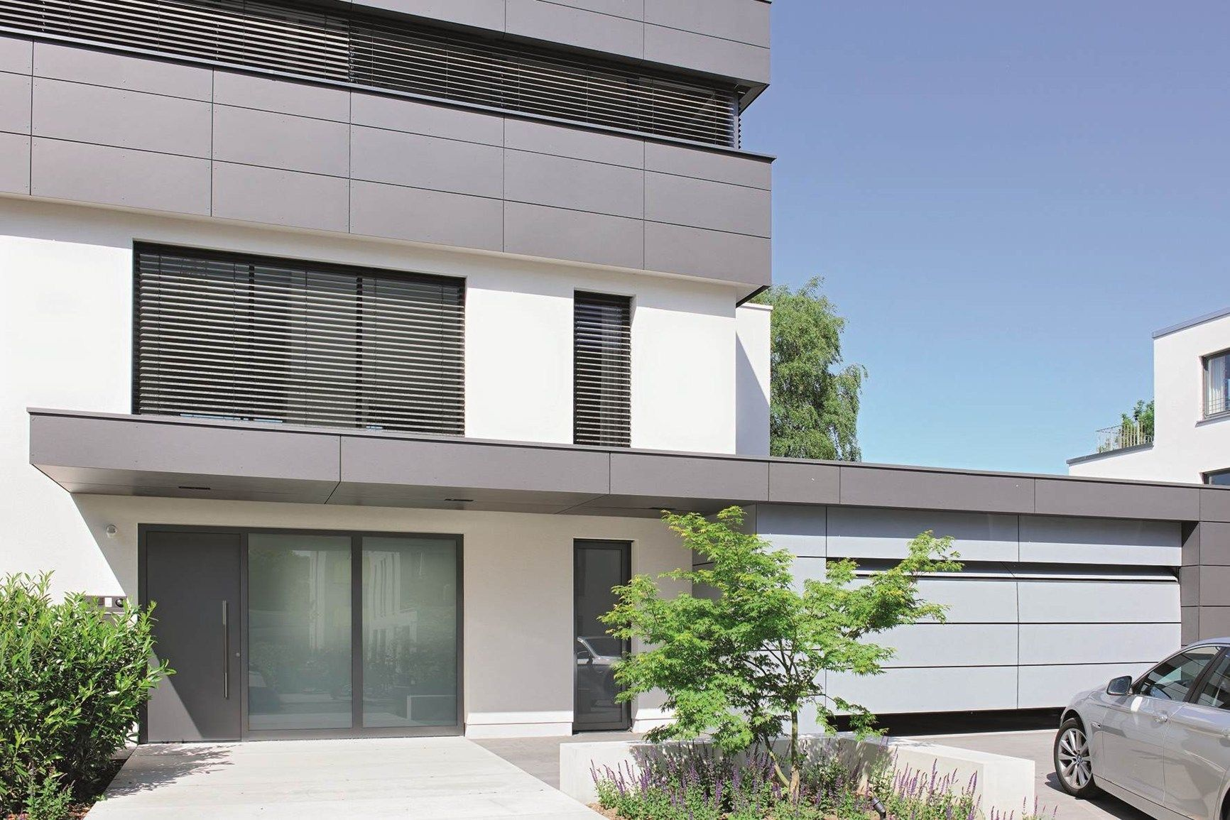 Colore Esterno Casa Moderna la porta d'ingresso hörmann thermocarbon stabilisce nuovi