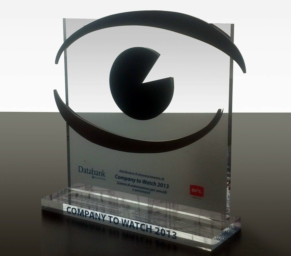 "Bft riceve il premio ""Company to watch"" di Databank"