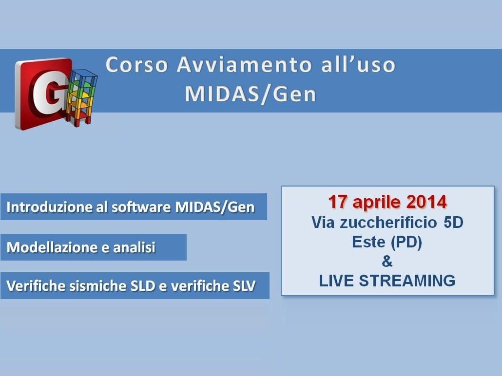 CSPFea presenta il Corso di Avviamento all'uso Midas/Gen