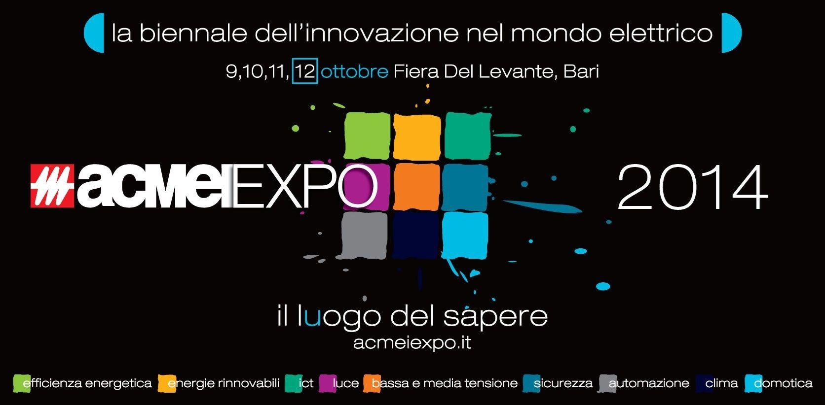 ACMEIEXPO2014: appuntamento alla Fiera del Levante dal 9 a 12 ottobre