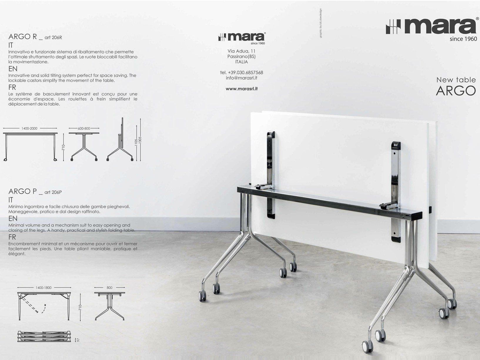 Mara presenta i nuovi tavoli ribaltabili ARGO e SAVIO