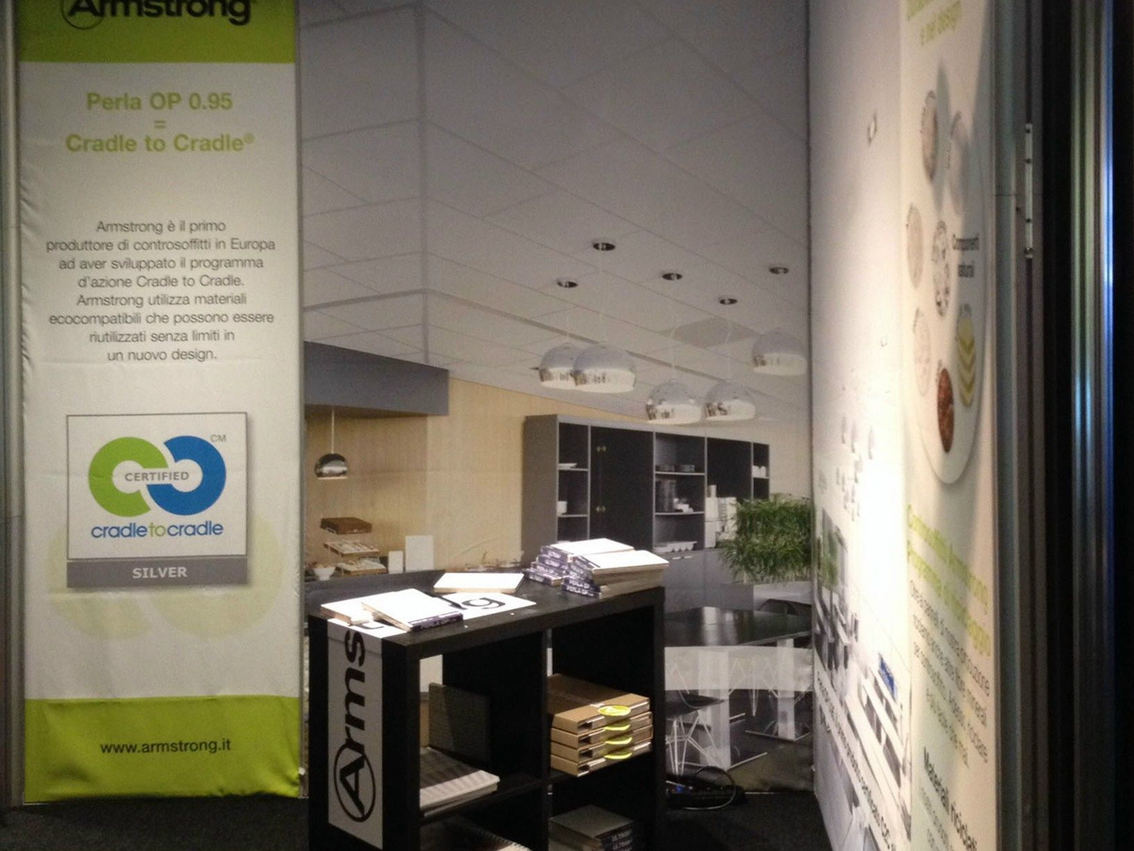 Perla OP 0.95 di Armstrong Building Products: grande successo ad ARCHITECT@WORK