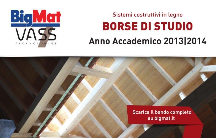 """Il sistema costruttivo in legno """"Bigmat Vass"""" assegna borse di studio a 4 tesi di laurea per l'Anno Accademico 2013/2014"""