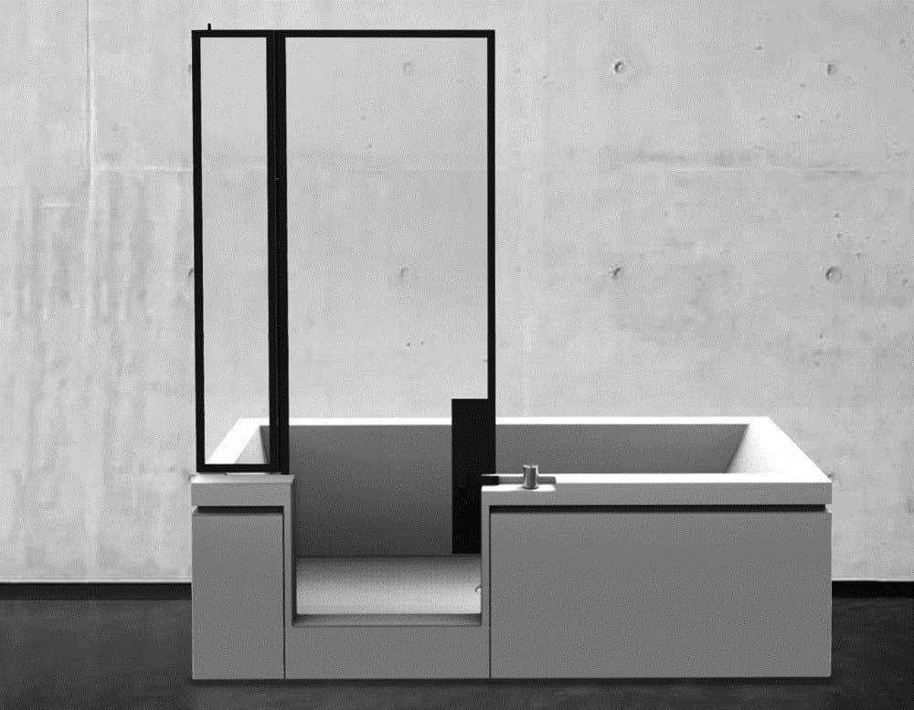 Vasca Da Bagno Teuco Wilmotte : Vasca doccia finestre parigine suggeriscono l idea