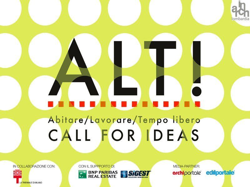 Abitare/Lavorare/Tempo libero: la call for ideas ALT!