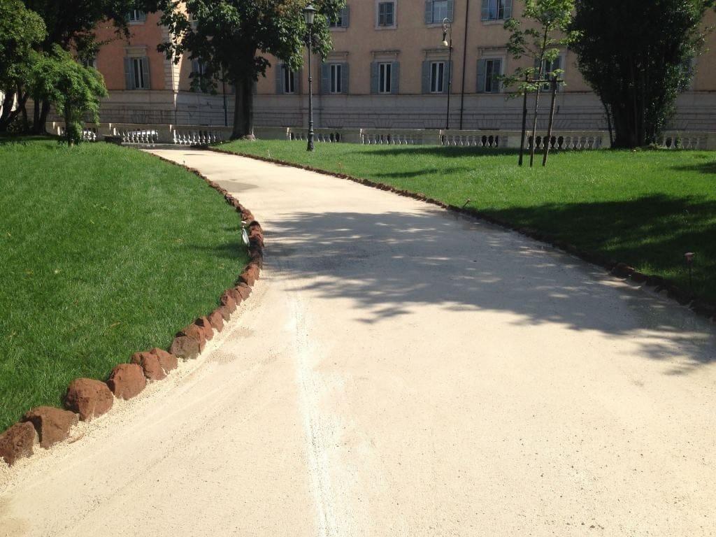 Levocell by Ruredil per il rifacimento della pavimentazione dei Giardini del Quirinale - Roma