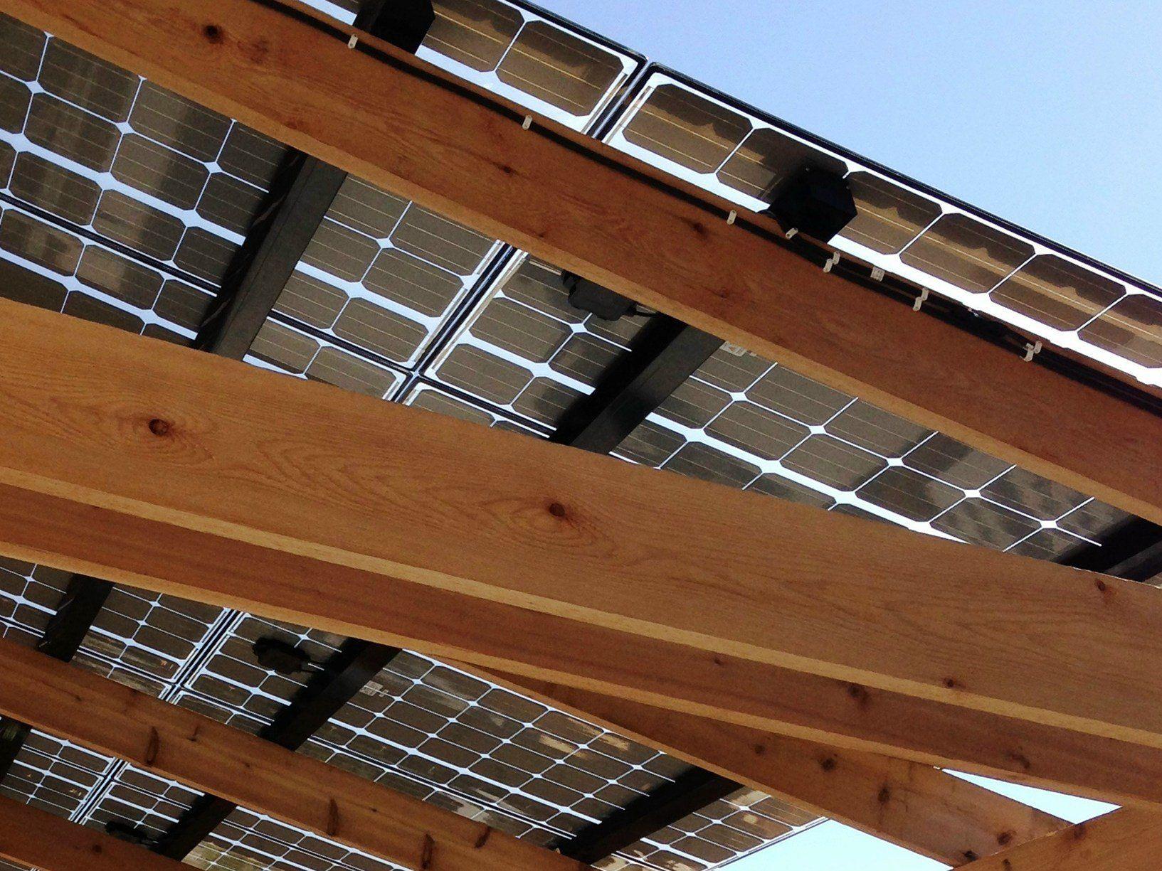 Dimensionamento Pergolato In Legno fotovoltaico sul pergolato, per installarlo basta la cil