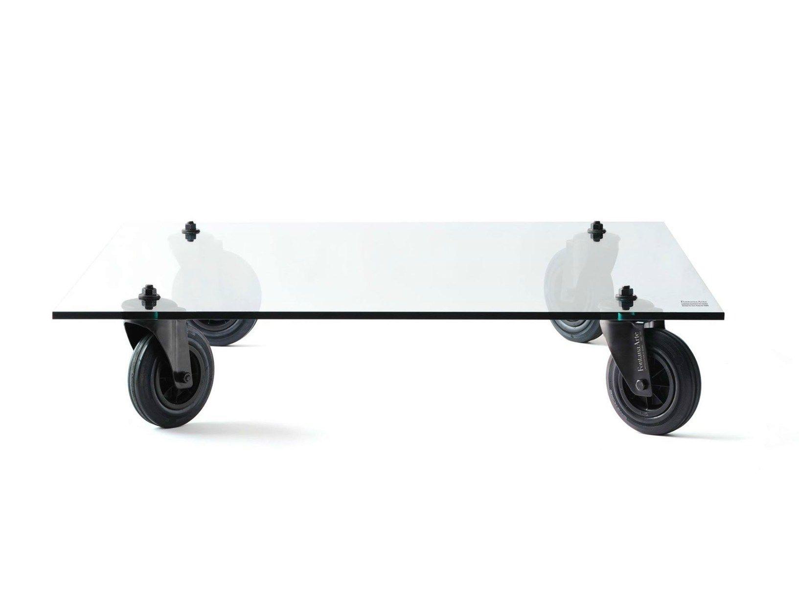 Tavolino Con Ruote Di Gae Aulenti.Tavolo Con Ruote Limited Edition 35 Years