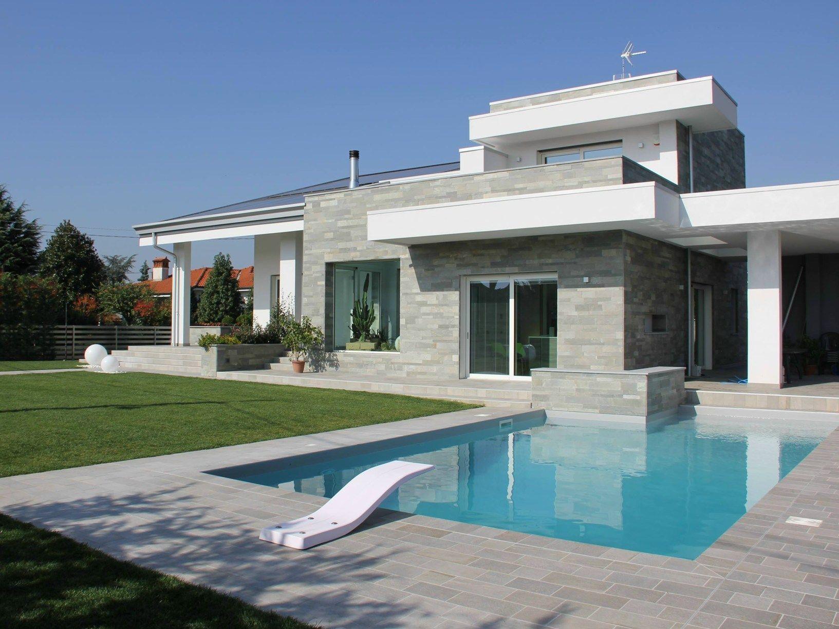 Scelta Colore Per Esterno Casa : Colore esterno casa grigio e bianco gres porcellanato pavimenti e