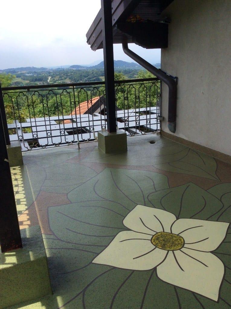 Personalizzazione del balcone grazie al sistema Triflex Color Design