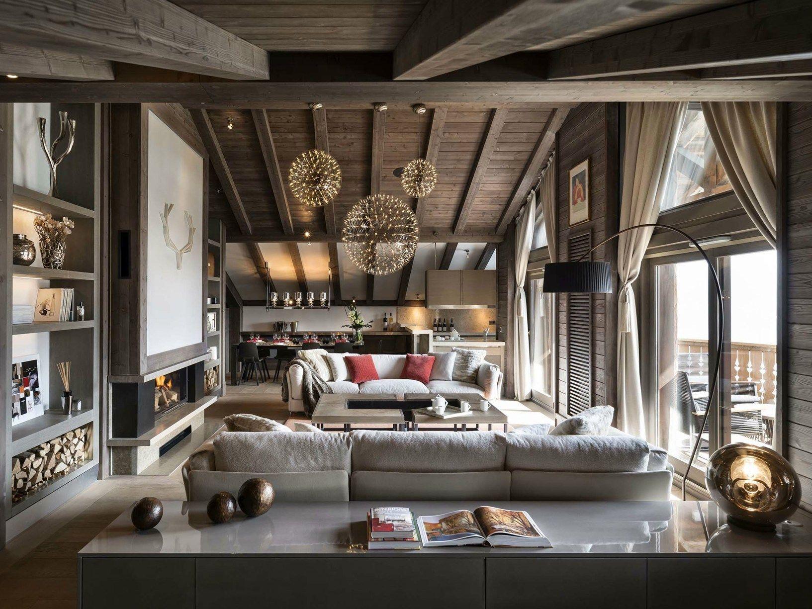 44 appartamenti affacciati sulle alpi francesi for Interni case francesi