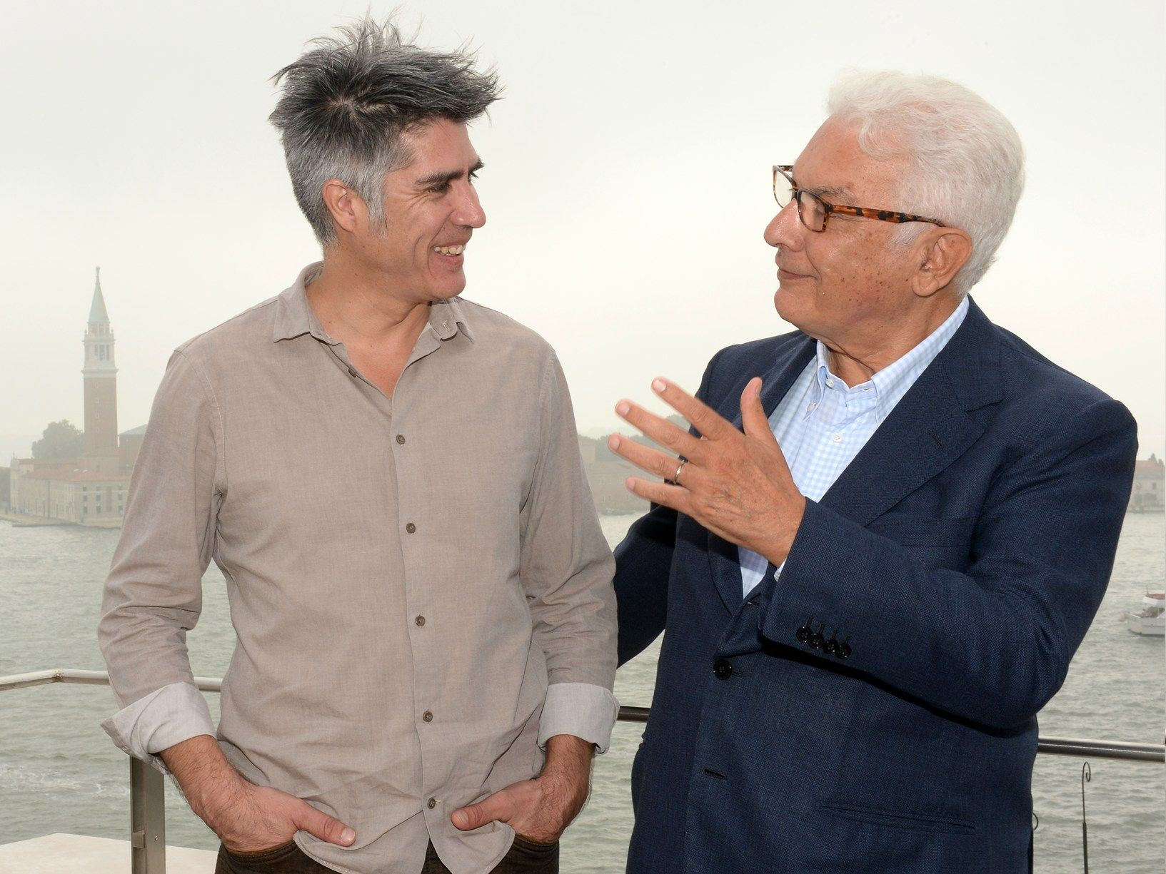 Alejandro Aravena and Paolo Baratta - Photo by Giorgio Zucchiatti Courtesy of la Biennale di Venezia