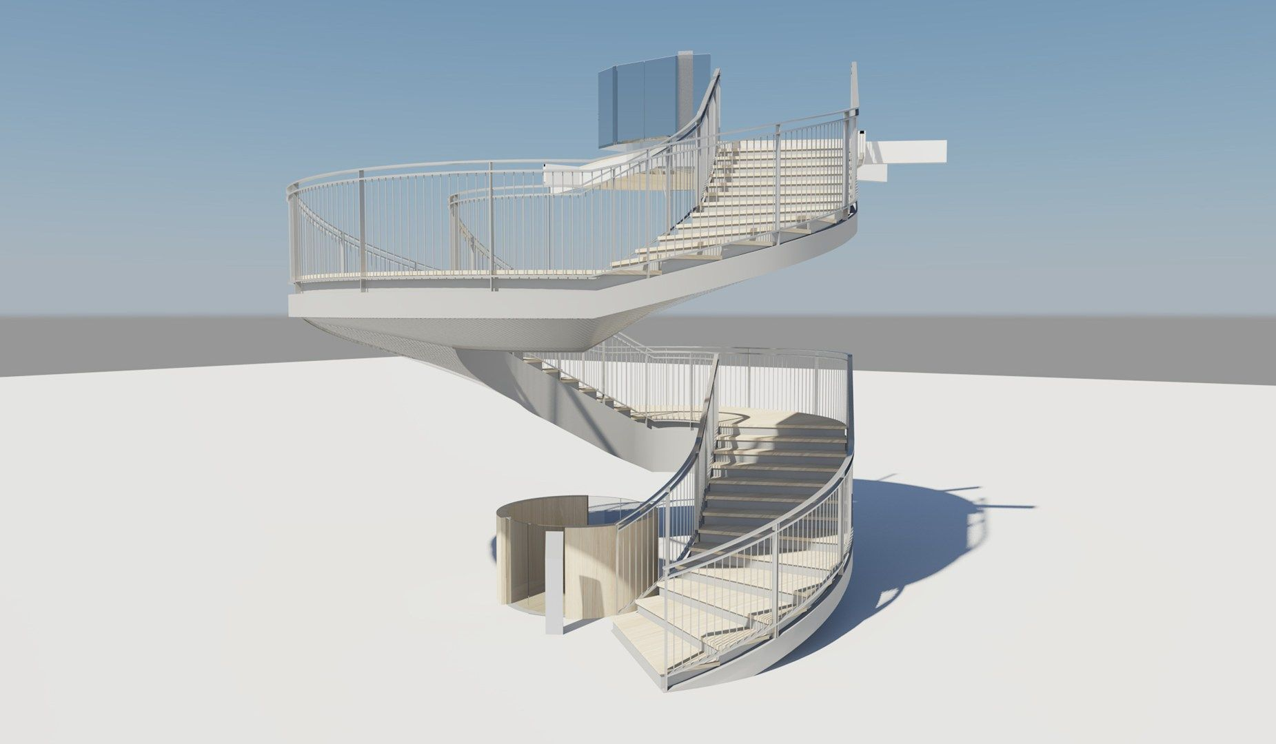 Una scala su misura per UniCredit Pavilion