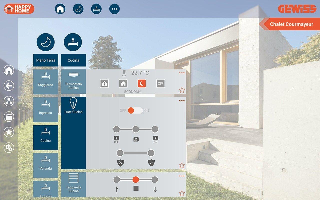 HAPPYHOME: nuova App GEWISS che consente di controllare l'abitazione in modo semplice ed immediato, anche a distanza