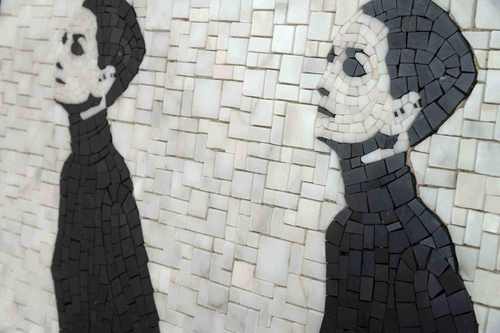 Arredamento Pop Art Milano : Mosaico in vetro ispirato alla pop art degli anni sessanta