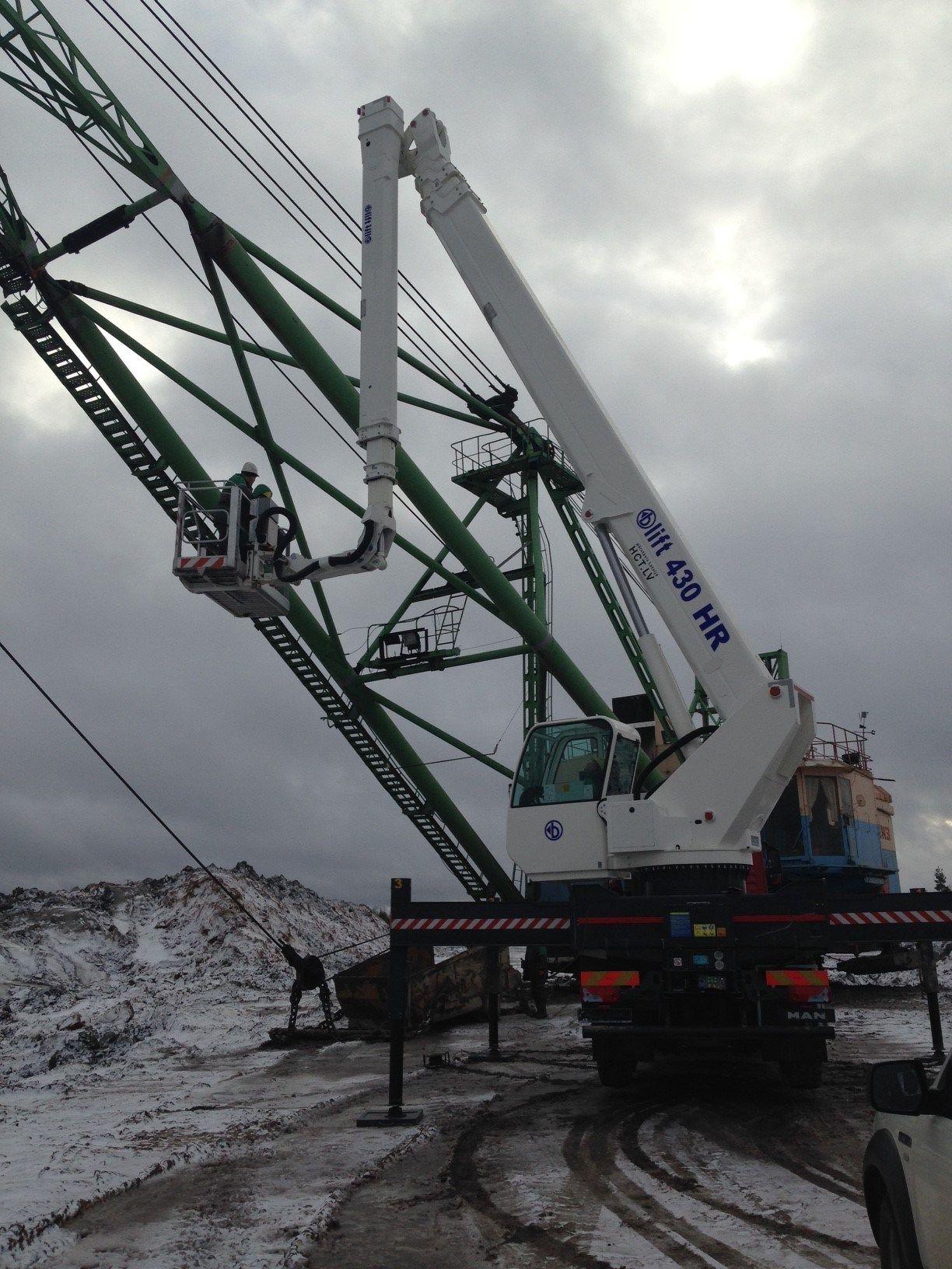 Una CTE B-Lift High Range nelle miniere estoni