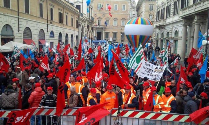 Appalti, l'11 marzo a Roma sciopero di Feneal, Filca e Fillea