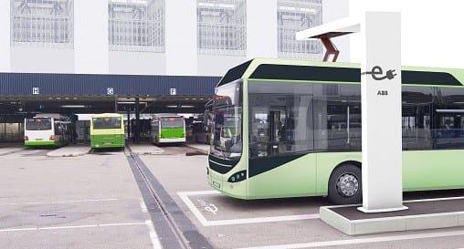 ABB fa viaggiare gli autobus elettrici ibridi a emissioni zero di Volvo in Belgio
