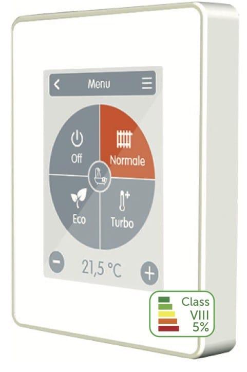 Termostato touchscreen Caleon ad MCE: estrema semplicità con design elegante
