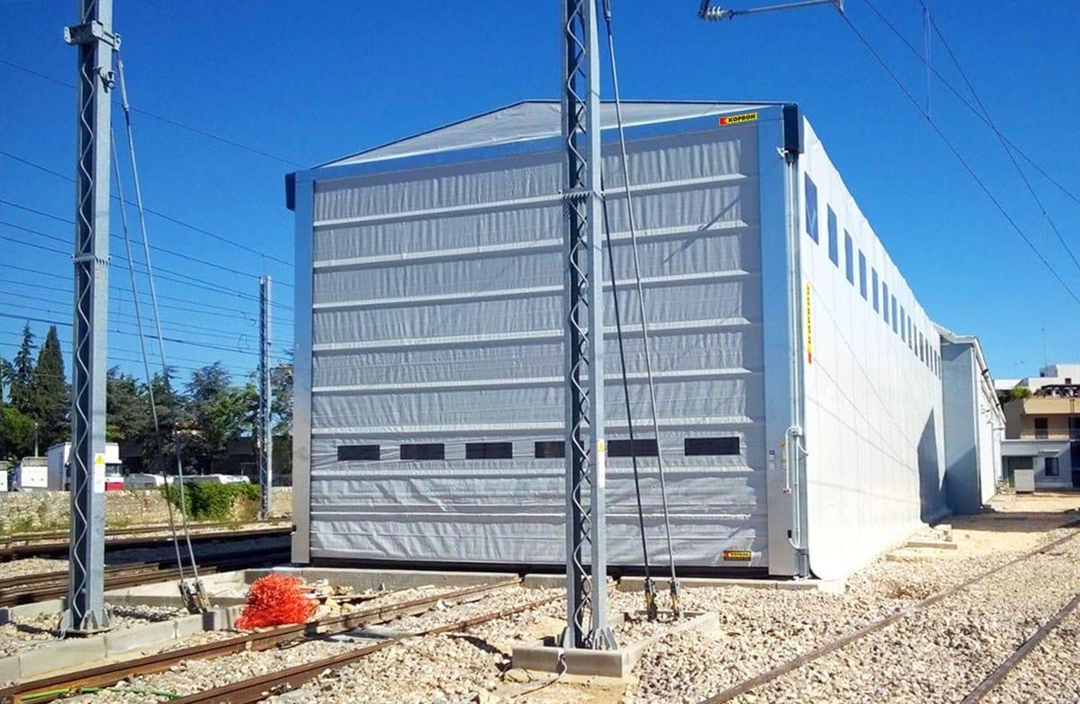 Fersalento elegge KOPRON come miglior partner per installare un capannone mobile retrattile