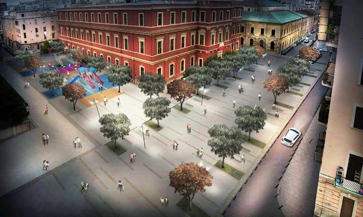 Progetto per Piazza del Redentore a Bari