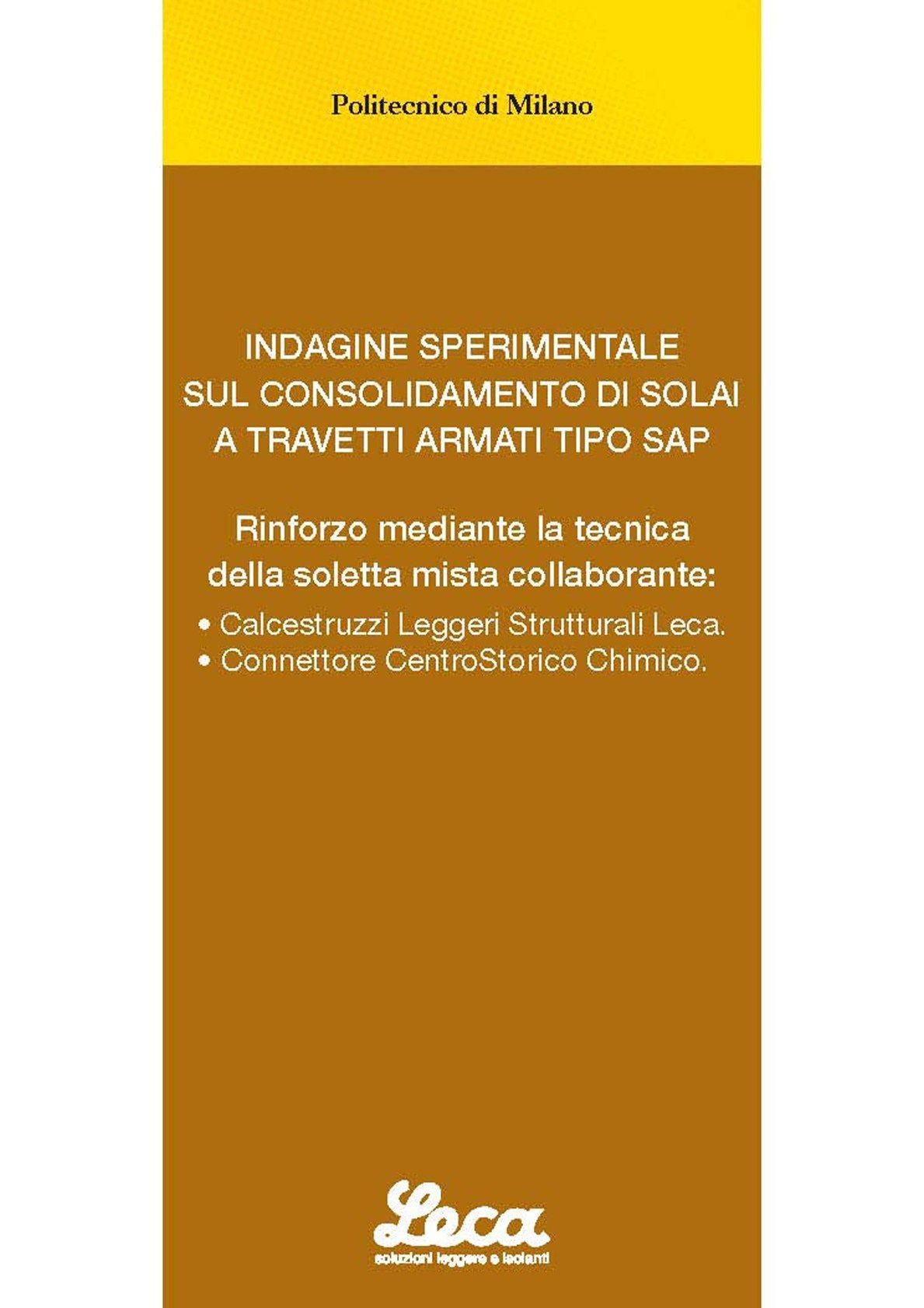 Da Laterlite un manuale per consolidare i solai SAP