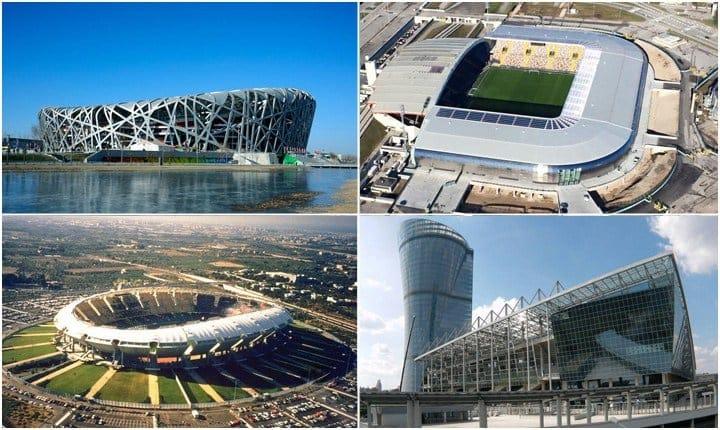 Stadi di calcio, templi dello sport e strutture all'avanguardia