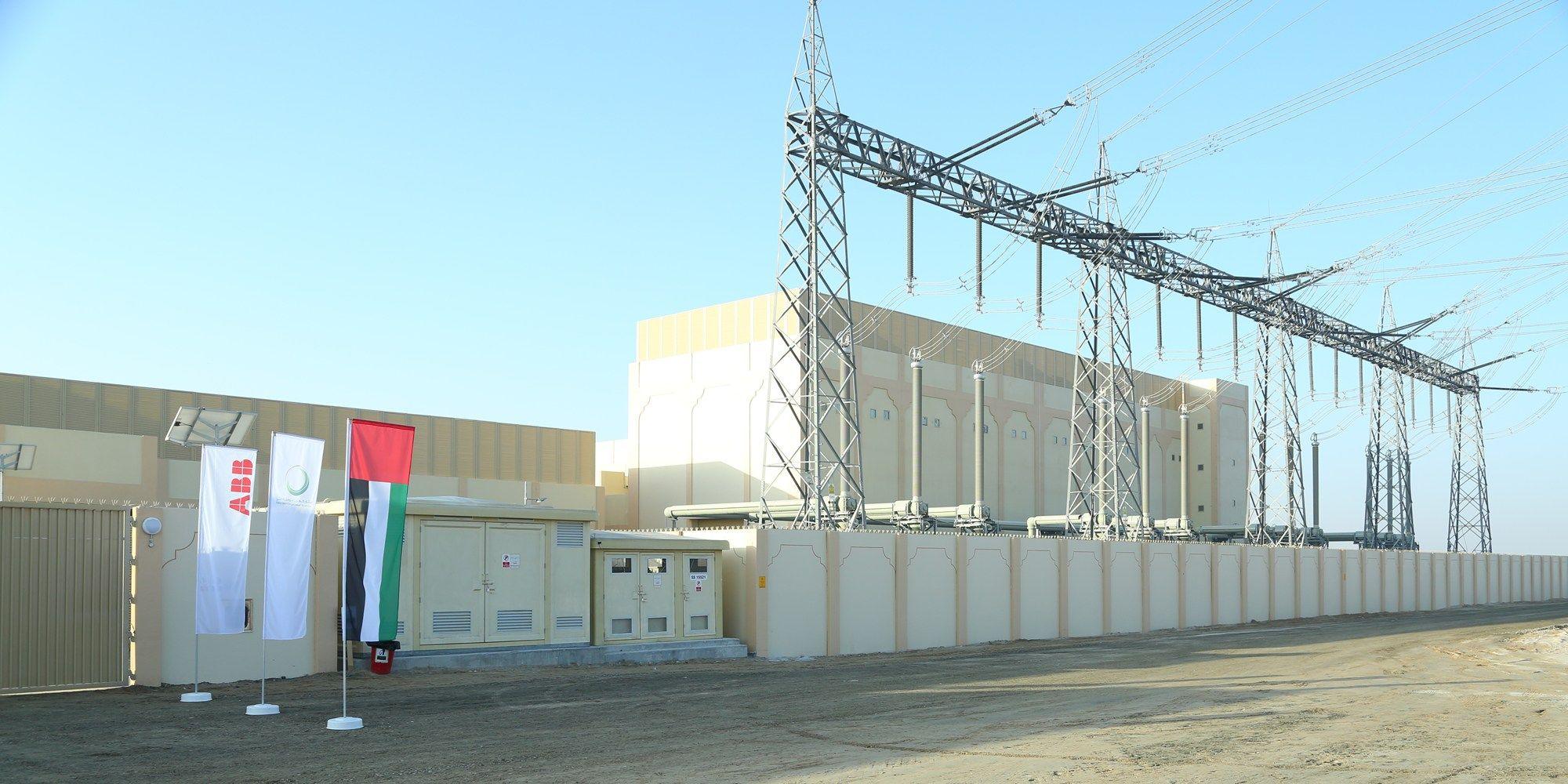 ABB fornisce una sottostazione per consentire il flusso di energia dal parco solare di Dubai