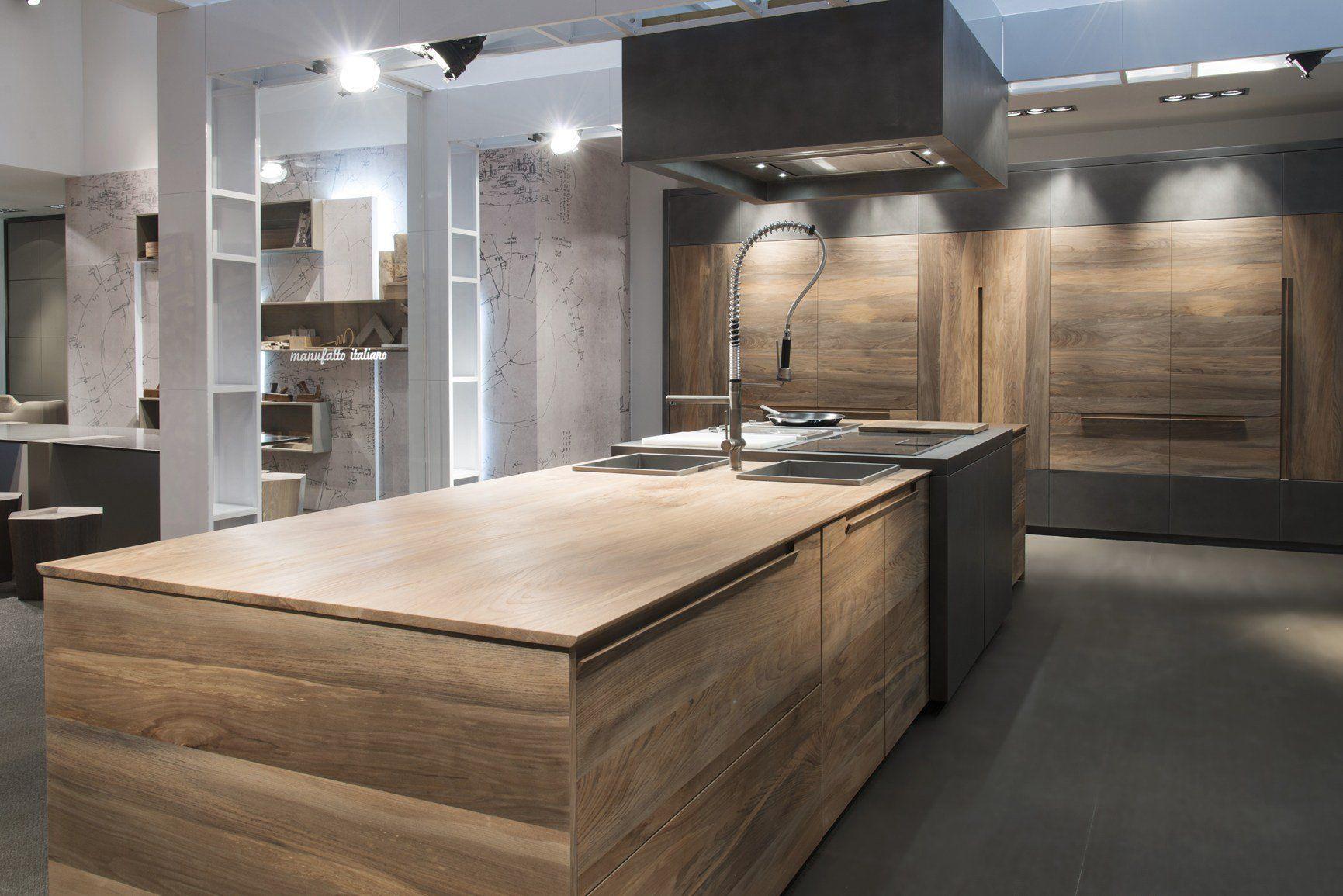 Fibra di carbonio cemento legno fossile for Cucina minimal