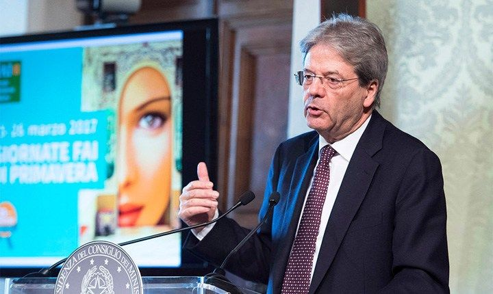 Gentiloni: Casa Italia diventerà dipartimento di Palazzo Chigi