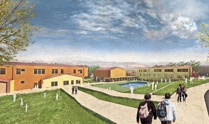 La scuola di San Ginesio vista dall'ostello
