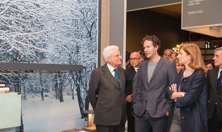 Sergio Mattarella sceglie Lago per la sua visita al Salone del Mobile