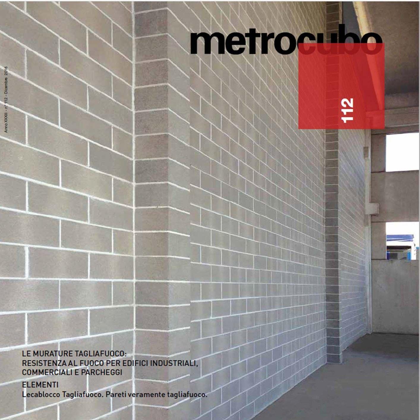 Anpel: Metrocubo 112, focus sulle murature tagliafuoco