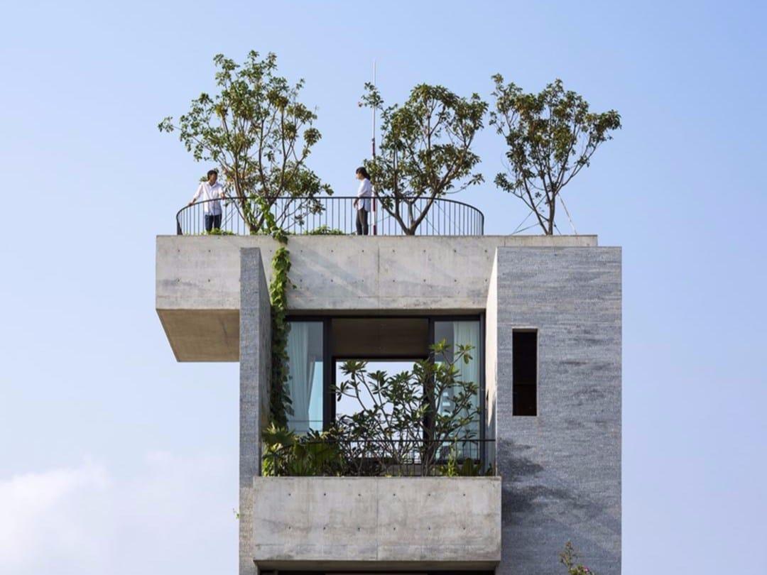 Barriere Antirumore Per Balconi casa binh: terrazze e balconi, alberi e calcestruzzo