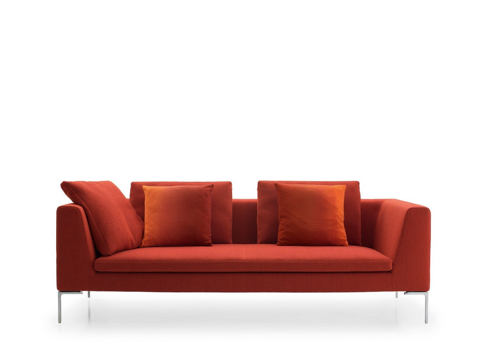 Divano Rosso E Grigio : Divano letto patchwork grigio e rosso imbottito in tessuto