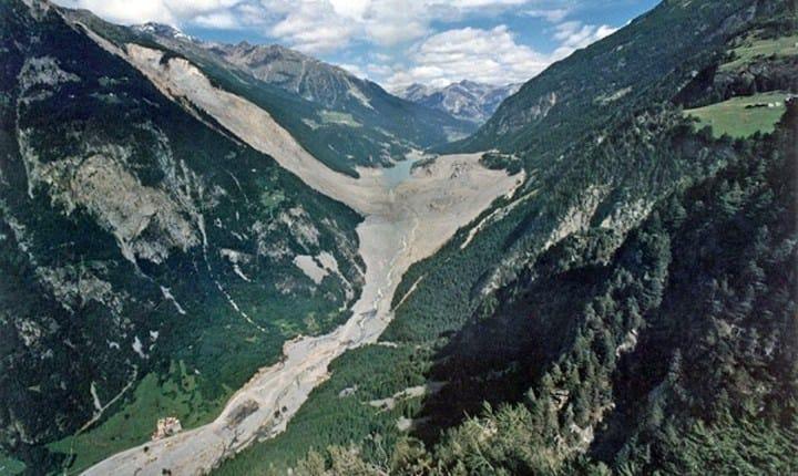 L'alluvione del 1987 in Valtellina - Foto tratta da: valtellinanews.it
