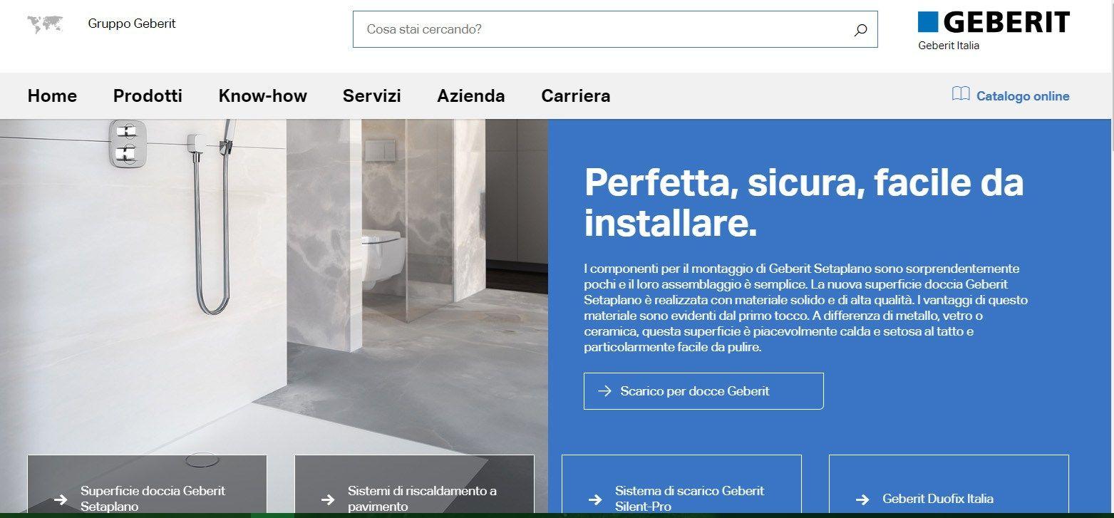 Un nuovo look per il sito Geberit