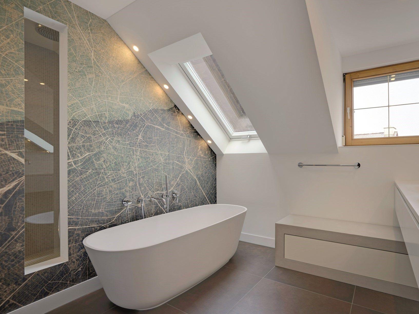 Un bagno di 12 metri quadri diventa una spa domestica - Quadri da appendere in bagno ...