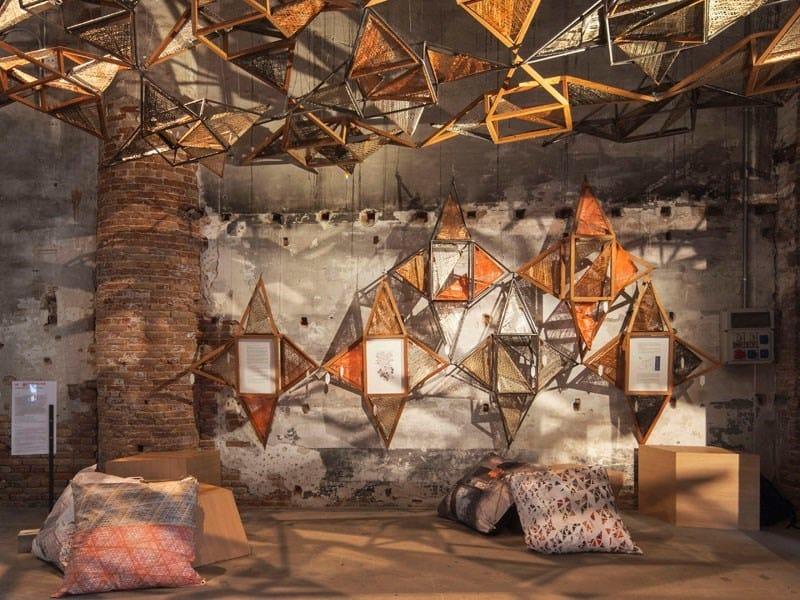 Weaving Architecture, installazione per Biennale Architettura 2018 - Benedetta Tagliabue- EMBT - credit Giovanni Nardi