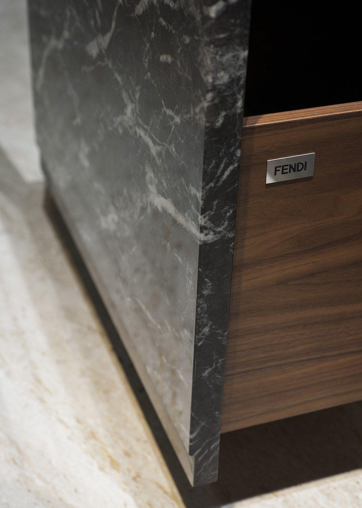 Marble + Metal. The New Fendi Kitchen