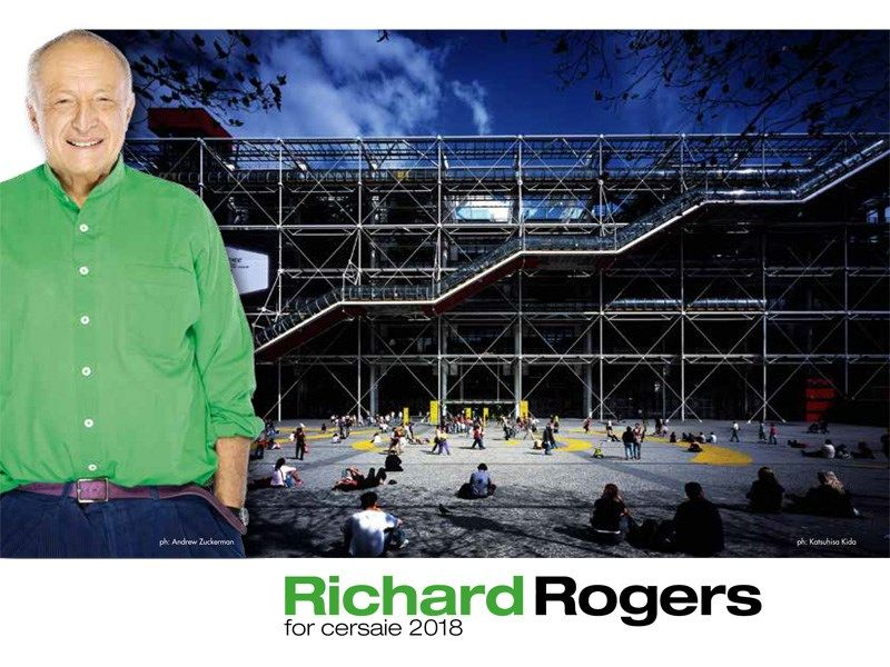 Lord Richard Rogers a Bologna per una Lectio Magistralis