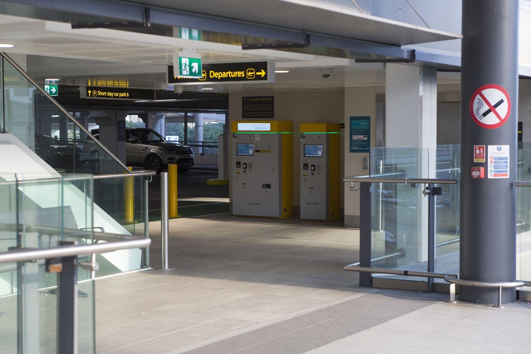 Tecnologia CAME nei parcheggi dell'aeroporto londinese di GATWICK